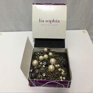 Lia Sophia extra long glam pearl necklace